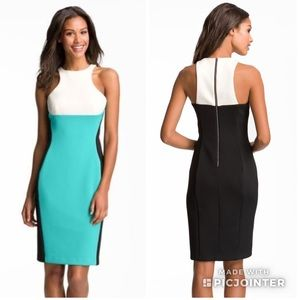 Colorblock Scuba Sheath Dress 👗